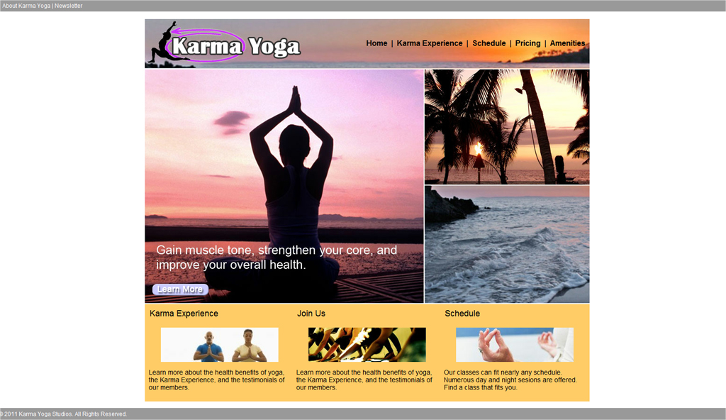Karma Yoga Studios Website